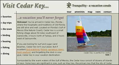 Visit Cedar Key website